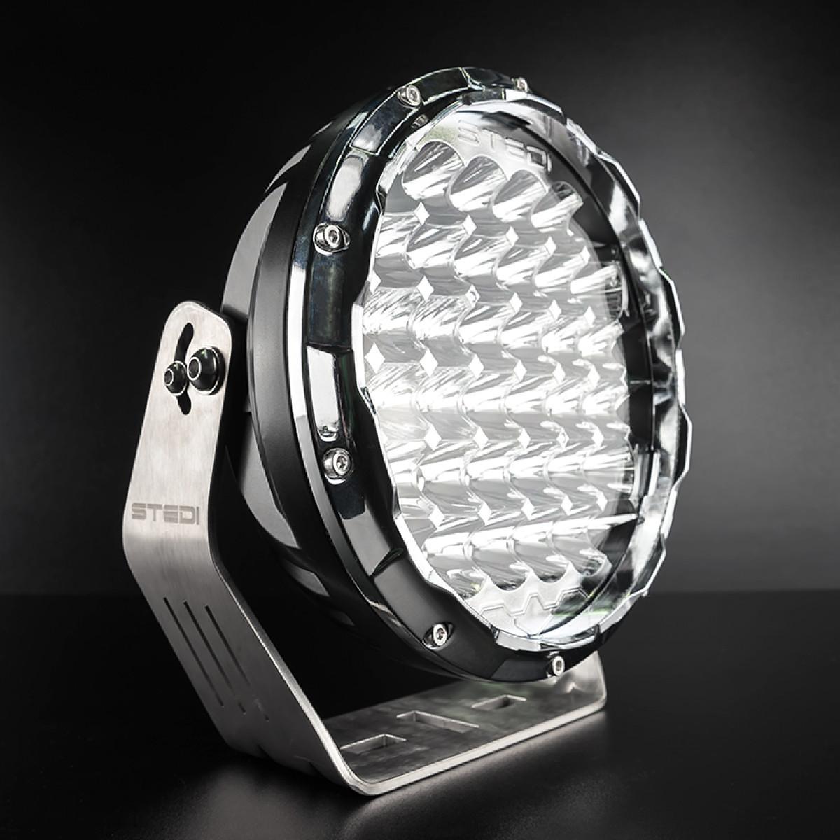 STEDI CHROME TYPE-X 8.5″ LED DRIVING LIGHTS (PAIR)