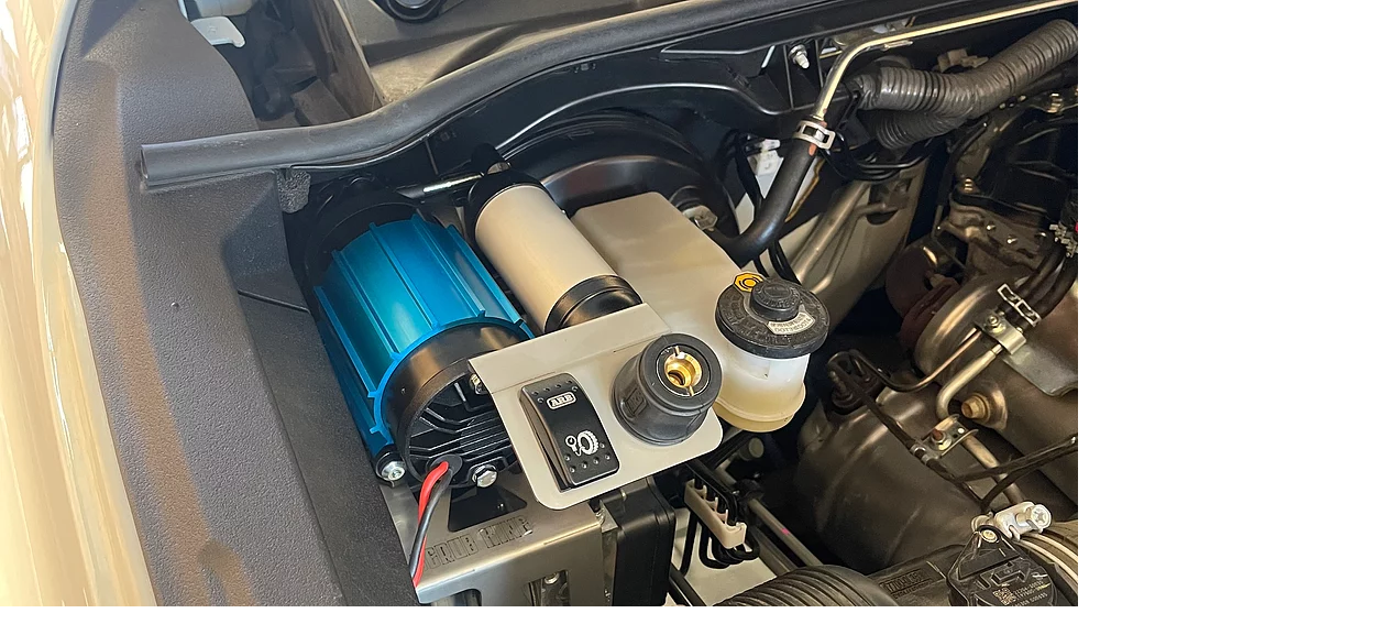Toyota Hilux N80 2015-2021 Onboard Air Compressor Mount (Engine Bay)